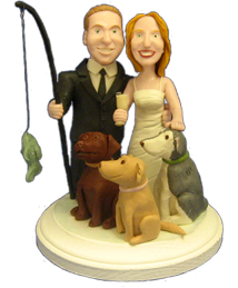 custom wedding cake toppers right brain creations home. Black Bedroom Furniture Sets. Home Design Ideas